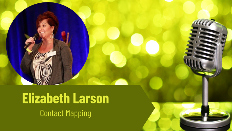Elizabeth Larson contact mapping on the Thriving Solopreneur Podcast with Janine Bolon
