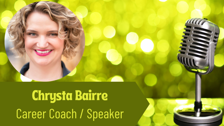 Chrysta Bairre, Career Coach and Speaker on the Thriving Solopreneur Podcast with Janine Bolon