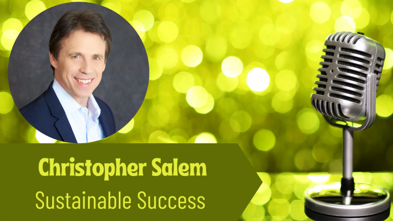 Christopher Salem, Sustainable Business on the Thriving Solopreneur Podcast with Janine Bolon